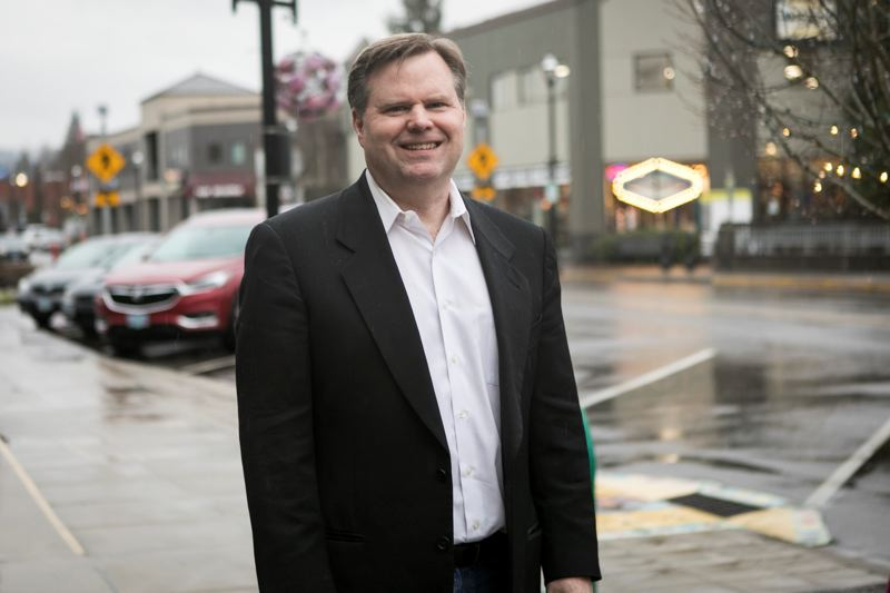 PMG PHOTO: JAIME VALDEZ - Tom Anderson, shown  outside his business on Tigard's Main Street.