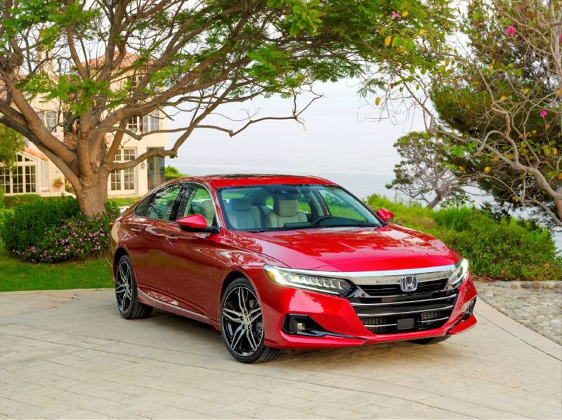 COURTESY HONDA - The 2021 Honda Accord Hybrid is a striking midsize family car with a smooth ride and available luxury.