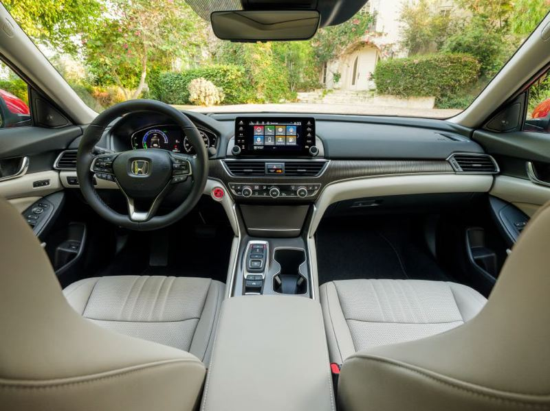 COURTESY HONDA - The interior of the 2020 Honda Accord Hybrid comes loaded with luxury and tech.