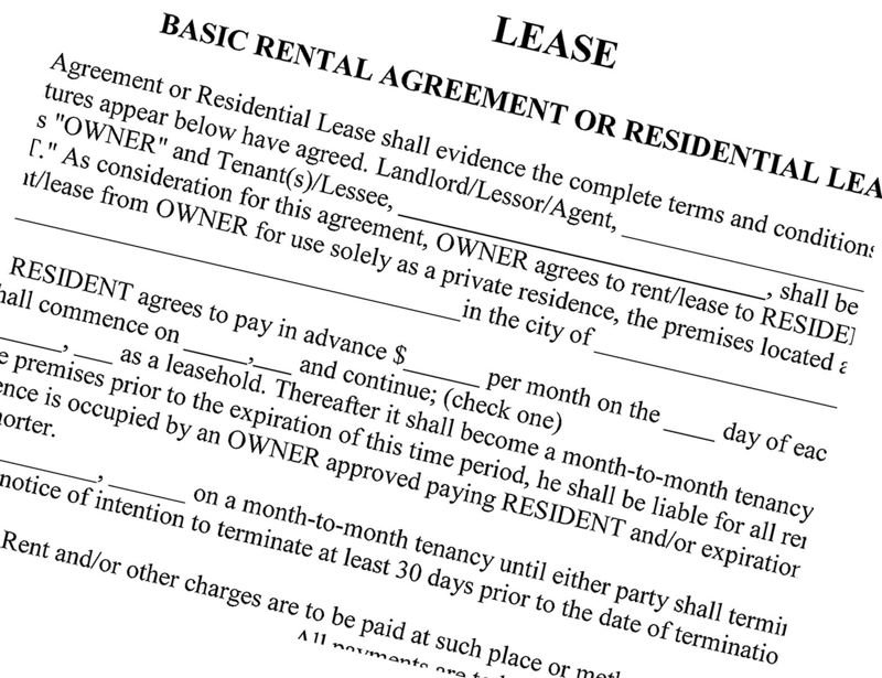 PMG FILE PHOTO - A standard rental lease application is shown here.