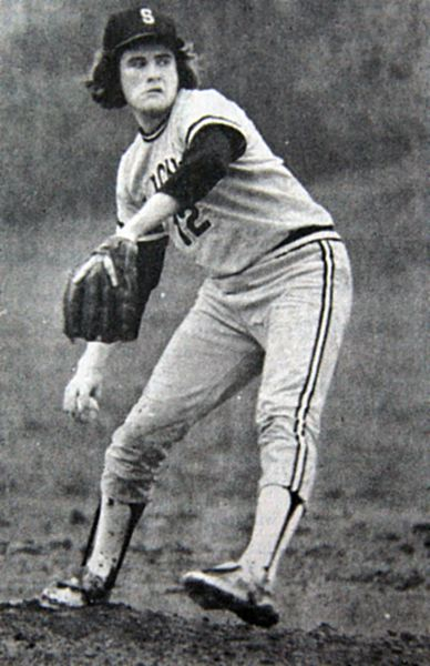 COURTESY PHOTO: THE ST. HELENS CHRONICLE - St. Helens' Shorty Ames was almost unstoppable as a pitcher for the Lions in 1977-79, going 24-2 overall and being named a unanimous all-Coast Valley League selection three times and first-team all-state at the AAA classification in 1979.