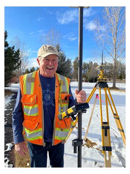 PHOTO COURTESY OF GARY DEJARNATT   - Gary DeJarnatt has worked as a land surveyor since 1973 and was first elected the Jefferson County surveyor in 1989. Professional Land Surveyors of Oregon recently named him the 2020 Surveyor of the Year.