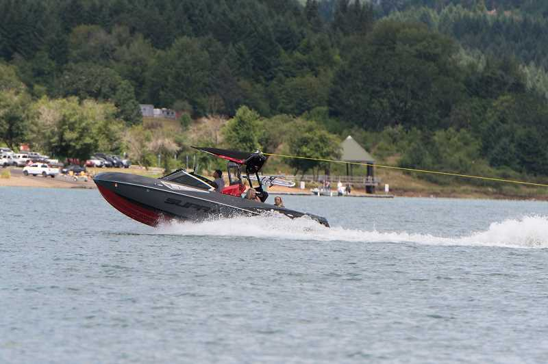 PMG FILE PHOTO: CHRISTOPHER OERTELL - Boaters enjoy time on Hagg Lake. State Bill 2555 would restrict towing-sports on the Newberg Poll portion of the Willamette River, likely pushing more boaters to Hagg Lake.