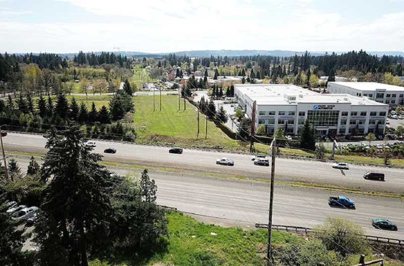 COURTESY PHOTO: TUALATIN HILLS PARK & RECREATION DISTRICT - Photo of area facing south over Highway 26. The Tualatin Hills Park & Recreation District is asking for the publics input regarding a new possible bridge over Highway 26.