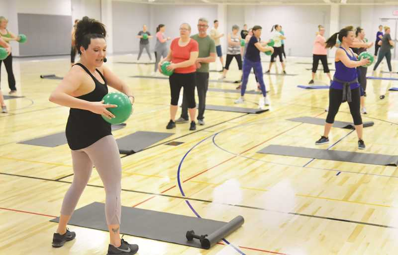 PMG FILE PHOTO - Barre Fusion and Zumba group classes have resumed at the Chehalem Aquatic and Fitness Cneter on a drop-in basis, no reservation required.