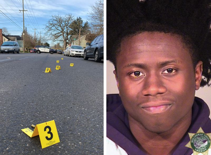 VIA PPB - Police responded to a shooting in Portland's Portsmouth neighborhood on March 4, left, and are now seeking a suspect in the incident, Marquise Brazile.