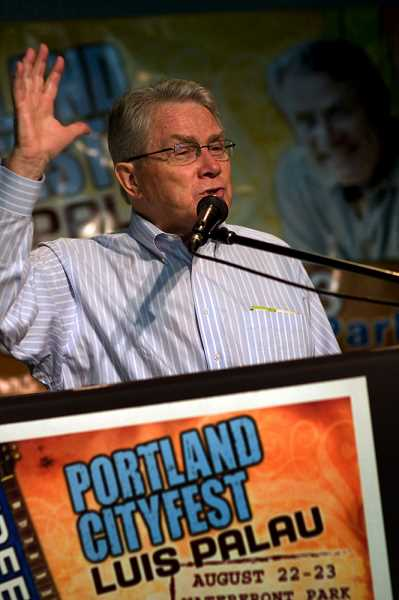 PMG FILE PHOTO - Luis Palau drew as many as 80,000 people to Waterfront Park in 1999, Willamette Week reported at the time.