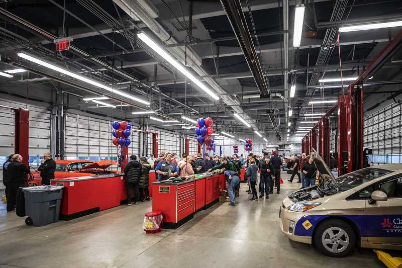 PMG FILE PHOTO: JONATHAN HOUSE - The automotive garage space on Clackamas Community College's Oregon City campus, renovated in 2019-20, features 12 new, additional work stations for students in the automotive services technican degree program.