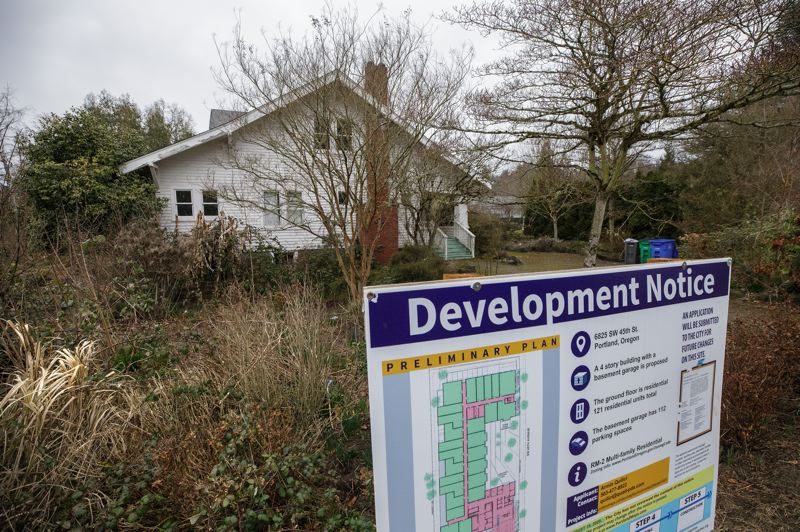 PMG PHOTO: JONATHAN HOUSE - This house must be moved or deconstructed to make way for a 122-unit apartment building.