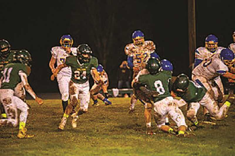 COURTESY PHOTO: JAMES MILLER - The Colton Vikings nabbed a season-opening win Friday night over Vernonia.
