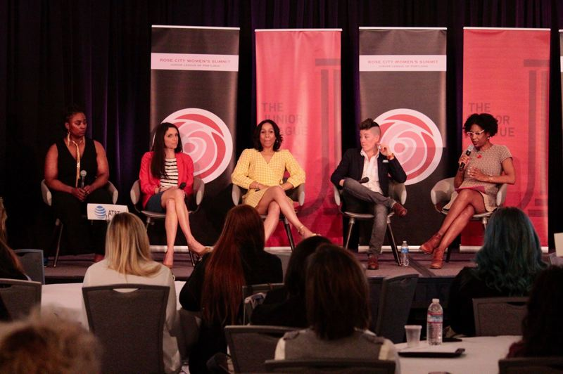 COURTESY: JUNIOR LEAGUE OF PORTLAND - A panel of women talk about the challenges they faced starting their own businesses as part of the 2019 Rose City Summit. After taking a break last year, the event returns on May 11 as a virtual conference.