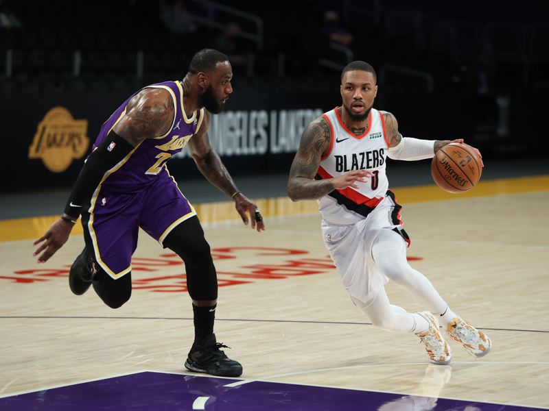 COURTESY PHOTO: BRUCE ELY/TRAIL BLAZERS - Damian Lillard starred at the NBA All-Star Game, and now looks forward to the Trail Blazers' playoff push.