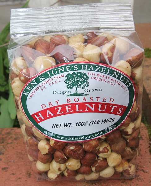 PMG PHOTO: JUSTIN MUCH - Melcher Family Farm provides its own brand, Ken & June Hazelnuts. The brand managed through slowdows from 2020 pandemic shutdowns, including Made In Oregon products, while the 2021 crop is anticipated to be affected negatively by ice storm damage.
