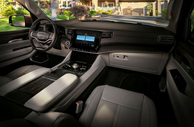 COURTESY STELLANTIS - The all-new Jeep Wagoneer has standard seating for eight passengers and an impressive array of standard and optional safety and functional features.