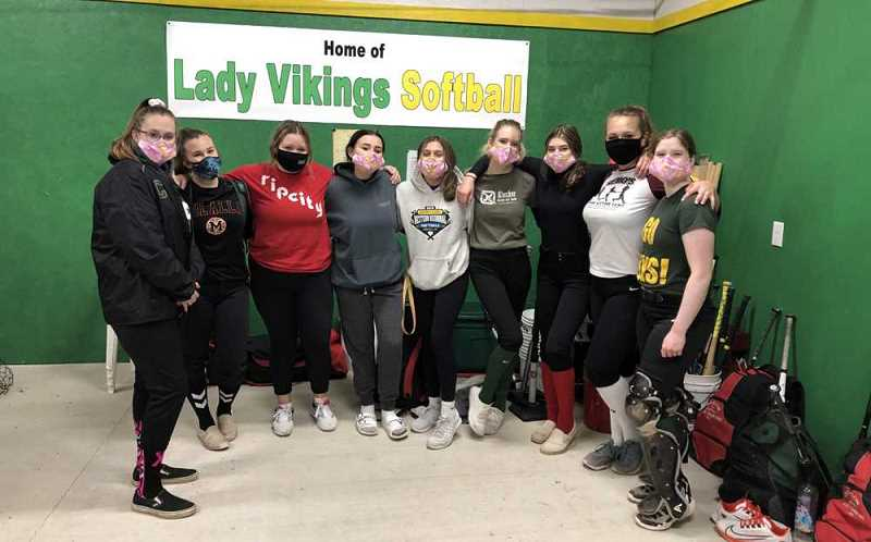 COURTESY PHOTO: OSAA TODAY - This picture of the Colton Vikings softball team caused the school district to pause and clarify its use of the term 'Lady Vikings.'