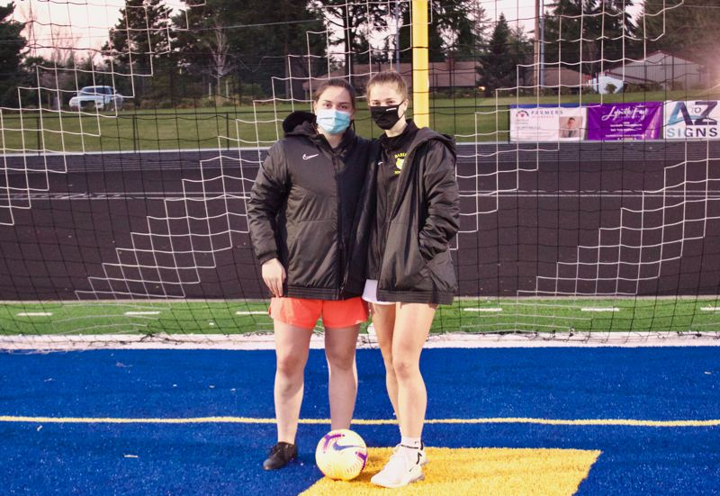 PMG PHOTO: CHRISTOPHER KEIZUR - Abi Hoffman and Mikayla Topaum lead a Barlow soccer team ready to play the top teams in the state.