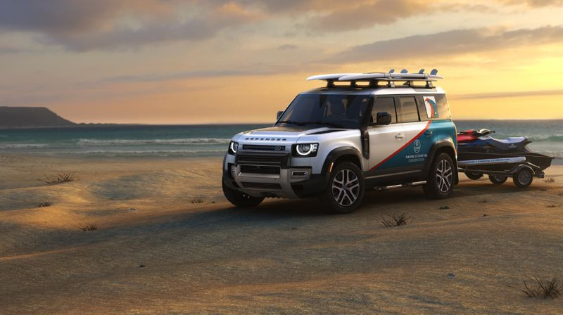 COURTESY LAND ROVER - Land Rover is donating Defenders to qualified nonprofits.