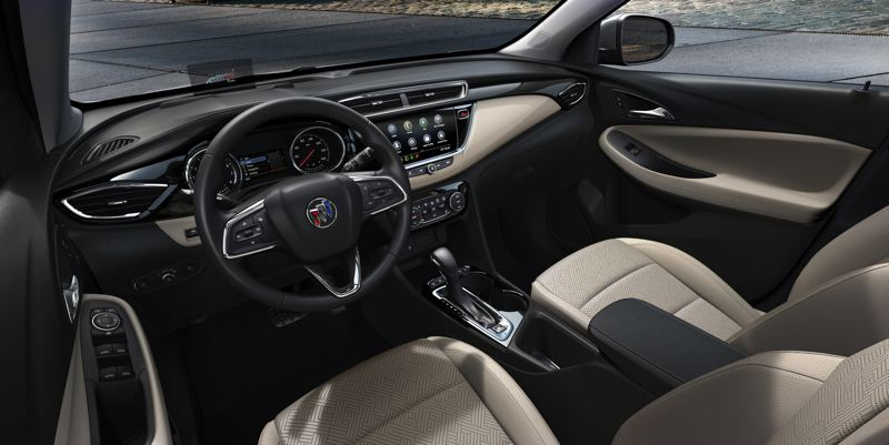 COURTESY BUICK - The interior of the Buick Encore GX has a luxury feel and is available with the advanced tech that consumers are seeking today.