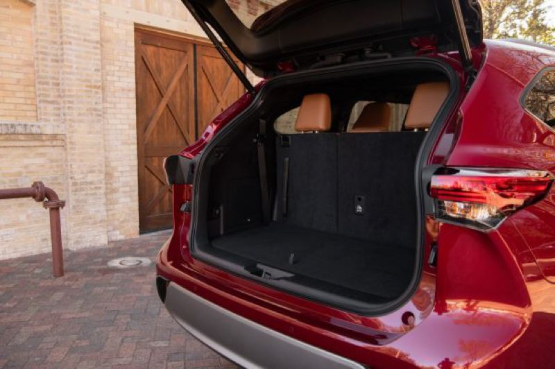 COURTESY TOYOTA - The 2021 Toyota Highlander Hybrid offers 16 cubic feet behind the third row of seats, 48.4 cubic feet with the third-row down, and 84.3 cubic feet with all rear seats folded.