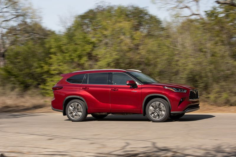 COURTESY TOYOTA - The 2021 Toyota Highlander Hybrid offers excellent hybrid fuel economy in an attractive, comfortable and well-made package with state-of-the-art safety.