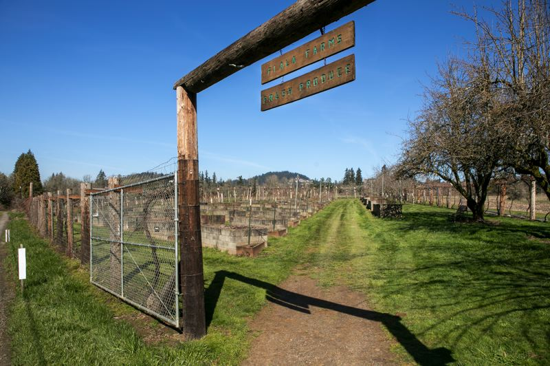PMG PHOTO: JAIME VALDEZ - This is the entrance to 'Fiala Farms Fresh Produce,' where produce is grown and the farm hosts catered dinners.