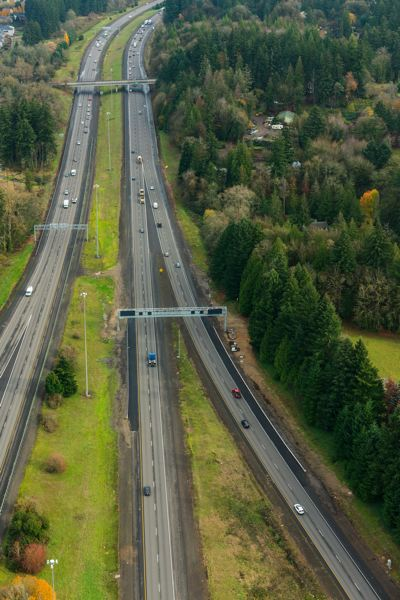 COURTESY PHOTO: ODOT  - A section of Interstate 205 being prepped for tolling by the Oregon Department of Transportation is shown here.