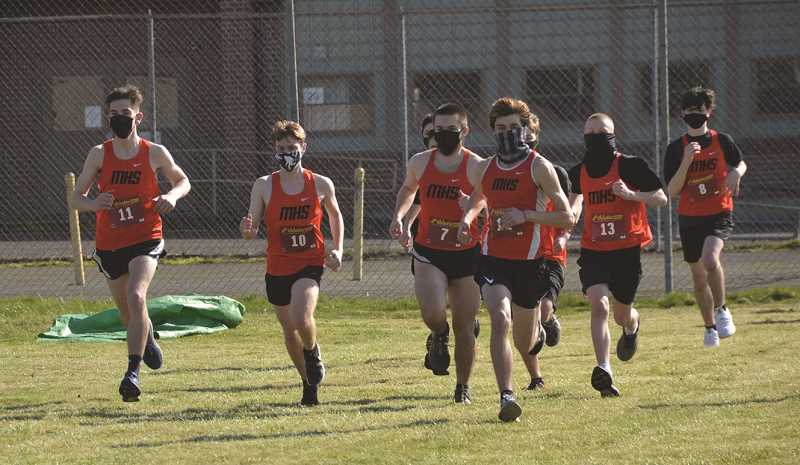 FILE PHOTO - The Molalla boys cross country team had a good outing in a three-way meet with Gladstone and Madras Wednesday.