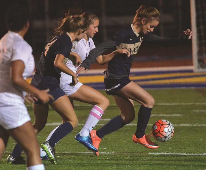 FILE PHOTO - The Canby girls soccer team played a solid match in tying Oregon City 0-0 on Wednesday.