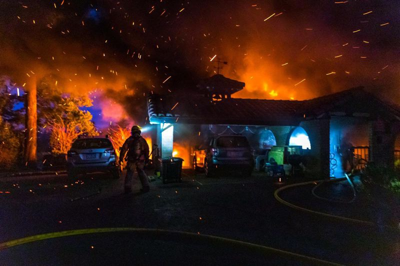 COURTESY PHOTO: GRESHAM FIRE & EMERGENCY SERVICES - An adult woman was able to escape the fire.