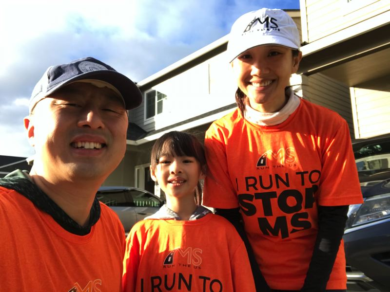 COURTESY PHOTO: HIEN WANG - Hien Wang said she is getting great support from friends and family, including husband Lih and daughter Nora, as she prepares to run 164 miles over six days.