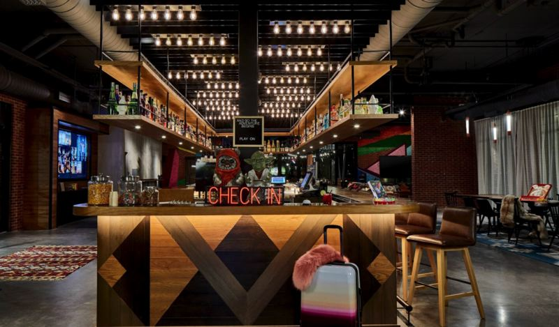 COURTESY PHOTO: MOXY BY MARRIOTT - Leisure and hospitality jobs are coming back, but according to state employment data, many hotel hotel and restaurant workers have moved on since being laid off in the COVID-19 recession. The Hotel Moxy in downtown Portland recently opened for business.