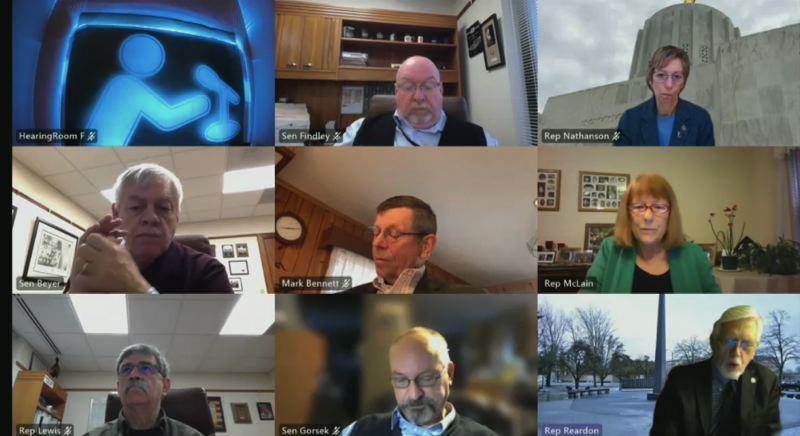 PMG SCREENSHOT - Members of the Joint Committee on Transportation met virtually on March 18.