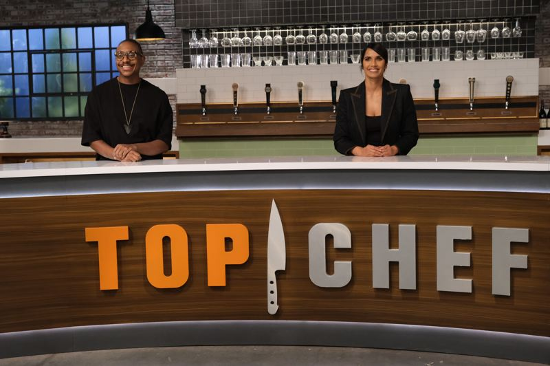 COURTESY PHOTO - Portland chef Gregory Gourdet serves as a judge on 'Top Chef,' which is hosted by Padma Lakshmi. It was filmed in Portland and airs on Bravo network starting April 1.