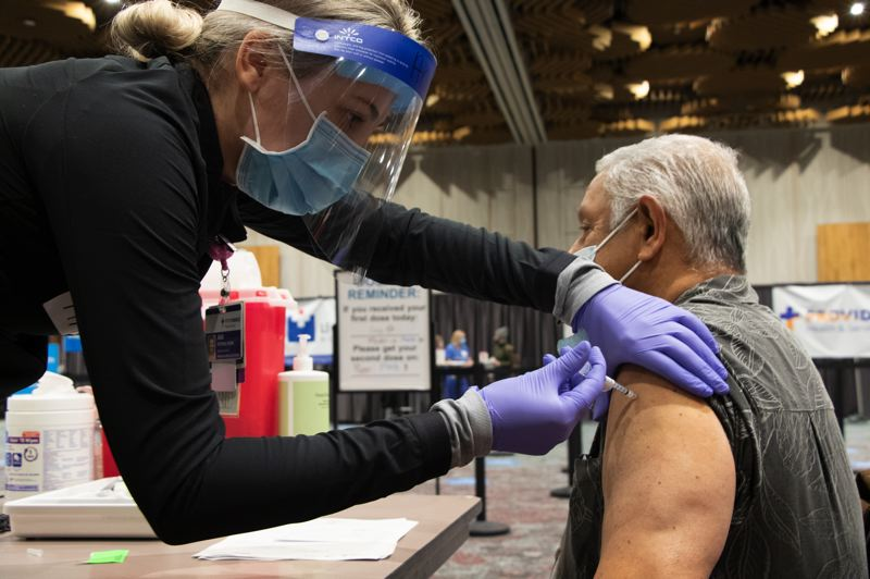 COURTESY PHOTO: OHIS - Oregon Gov. Kate Brown said the state is accelerating its COVID-19 vaccine eligibility beginning in late March.