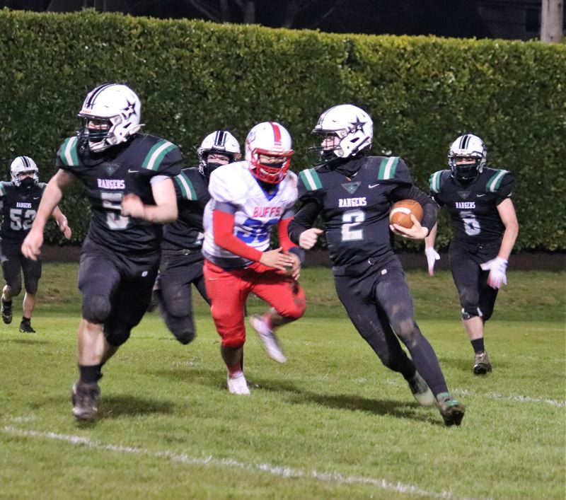 COURTESY PHOTO: CARMEN THORNHILL - Estacada cruised in their second game of the season, beating Madras 48-6.