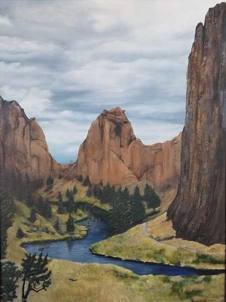 COURTESY PHOTO: SHERWOOD CENTER FOR THE ARTS - Smith Rock is among the landscapes featured in the artwork of D.K. Boljat, now on display at the Sherwood Center for the Arts.