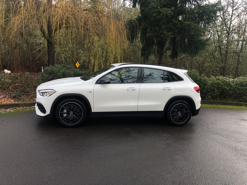 PMG PHOTO: JEFF ZURSCHMEIDE - Mercedes calls the GLA a subcompact crossover but it can also be considered a hatchback, making the AMG version a luxury hot hatch.