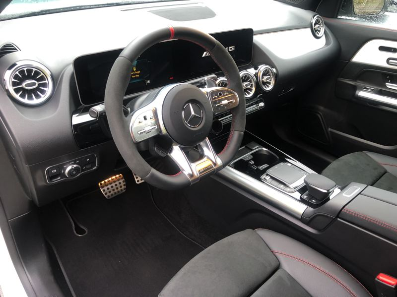 PMG PHOTO: JEFF ZURSCHMEIDE - The 2021 AMG GLA34 4MATIC comes with all the comfort, luxury, safety and tech features that expected in a Mercedes.