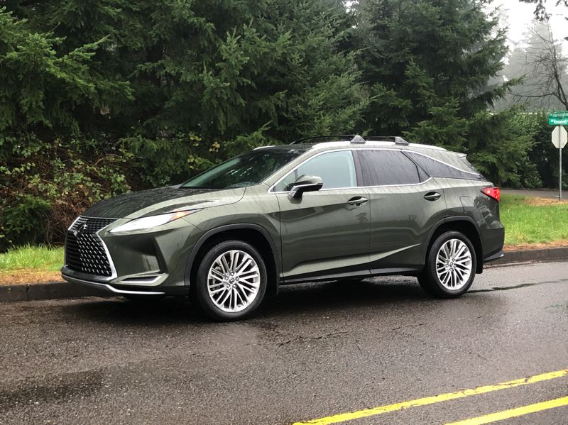 PMG PHOTO: JEFF ZURSCHMEIDE - Lexus has stretched its best-selling RX350 by 4.4 inches and squared off the back to make room for a third of row of seats. But you can still get it will all-wheel-drive for the rainy Pacific Northwest.