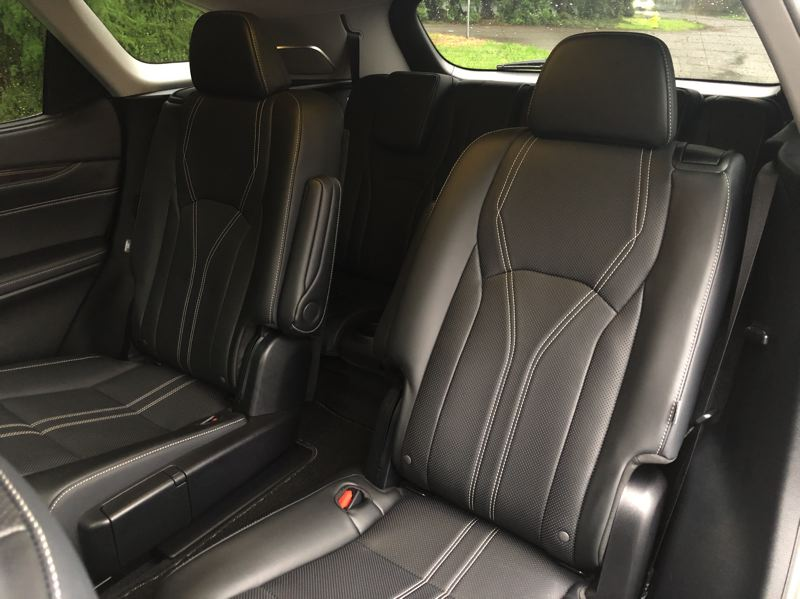 PMG PHOTO: JEFF ZURSCHMEIDE - The second row of seats in the 2021 Lexus RX350L can be ordered as captains chairs.