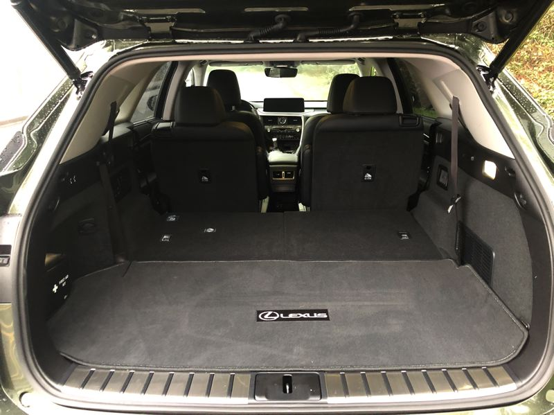 PMG PHOTO: JEFF ZURSCHMEIDE - Cargo space is boosted over the smaller RX350L, especially with the third rown of seats folded down.