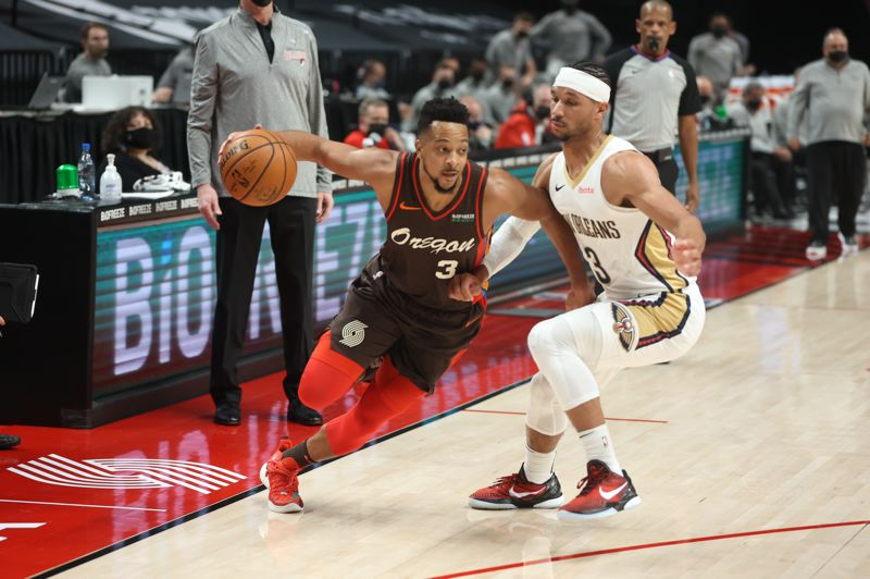 COURTESY PHOTO: BRUCE ELY/TRAIL BLAZERS - CJ McCollum had a great game against New Orleans, and struggled shooting in three other games since his return.