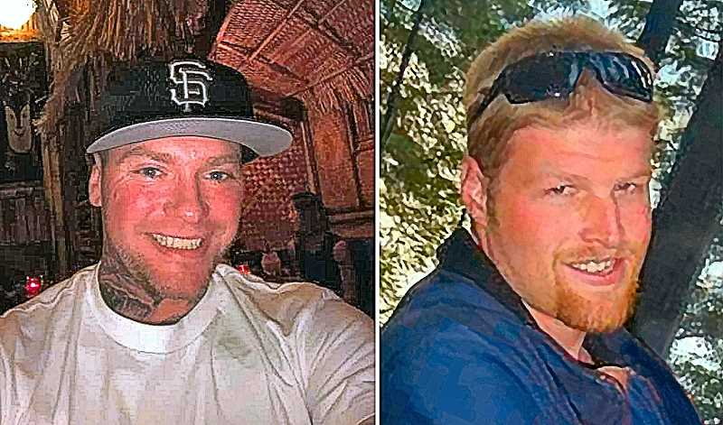 FAMILY-PROVIDED PHOTOS - Officials say that 39-year-old Williams Peters, left, died at the scene; 36-year-old Adam David-Lawrence Arrambide, at right, passed away at the hospital the following day.