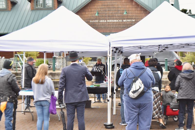 PMG PHOTO: BRITTANY ALLEN - Pastor Russell Collier hosted a celebration of the natural heterosexual family in Centennial Plaza on March 20.
