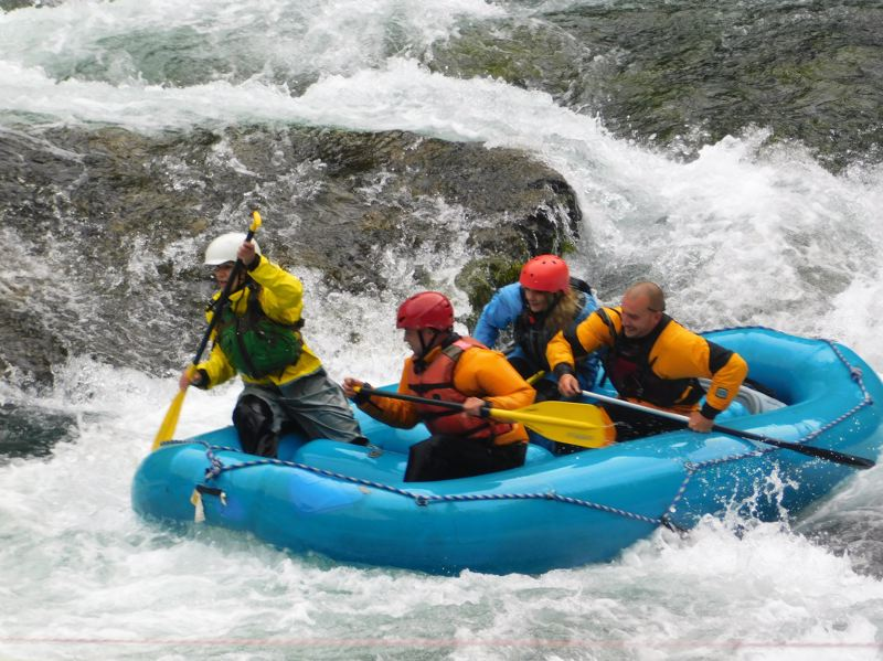 PMG FILE PHOTO - Participants raft through waves during a previos year's Upper Clackamas Whitewater Festival.