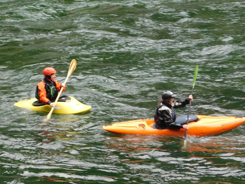PMG FILE PHOTO - Kayakers paddle down the Clackamas River during a previous year's whitewater festival.
