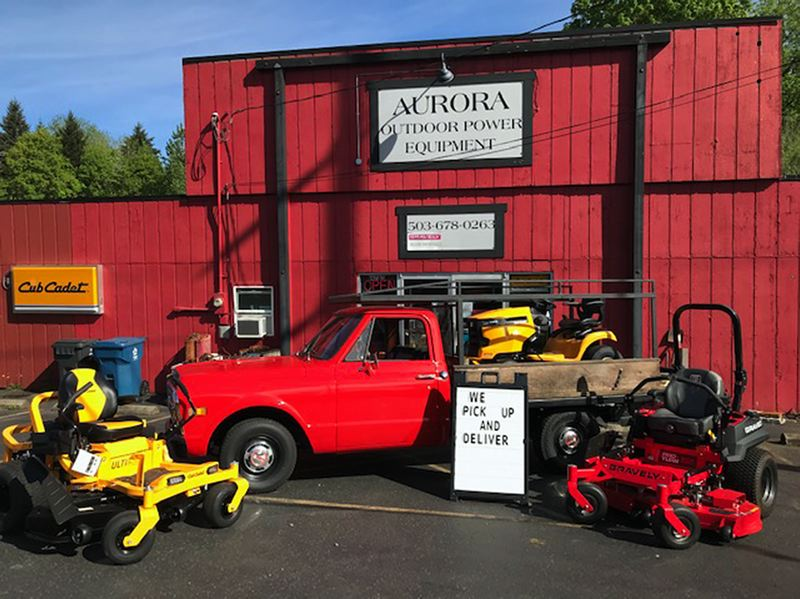 COURTESY PHOTO: AURORA OUTDOOR POWER EQUIPMENT - Zero turn lawn mowers are one of the featured items on sale to homeowners from Aurora Outdoor Power Equipment.