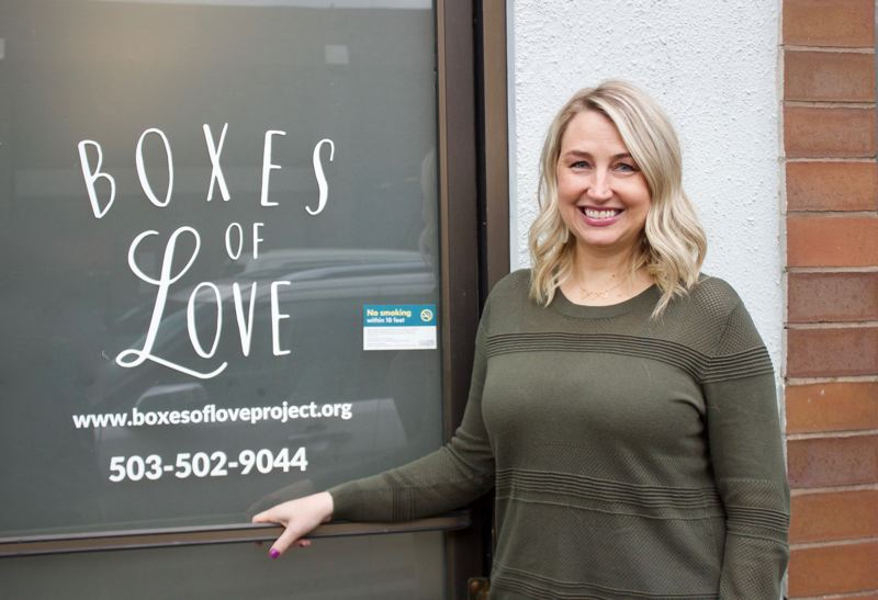 PMG PHOTO: CHRISTOPHER KEIZUR - Boxes of Love Executive Director Lyndsee Wunn wanted a place in Gresham to help garner attention for her work supporting foster kids.