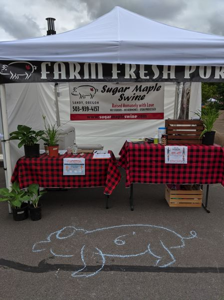 COURTESY PHOTO - Sugar Maple Swine has sold a variety of pork products at the Hoodland Farmers Market in the past.