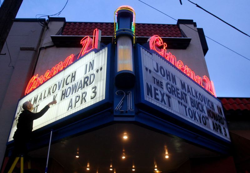PMG FILE PHOTO - Portland's Cinema 21 has been one of several independent movie theaters hard-hit by the COVID-19 pandemic shutdowns.